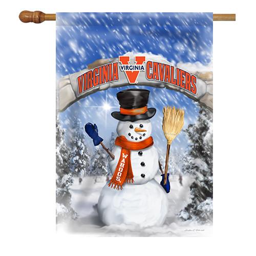 Virginia Snowman with Broom House Flag
