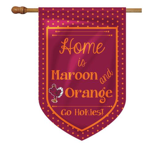 Virginia Tech House Flag - Home Is