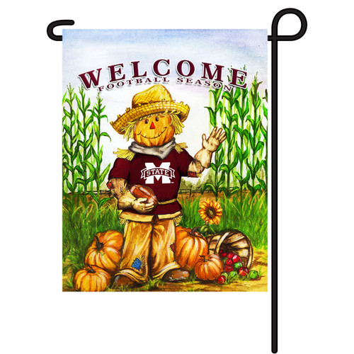 Mississippi State Scarecrow Garden Flag