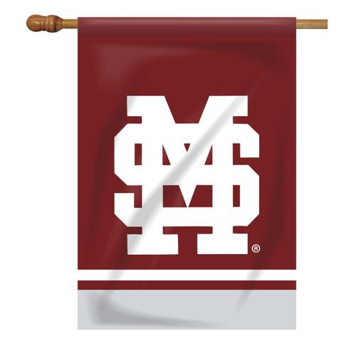 Mississippi State Rectangle House Flag - Baseball