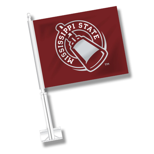 Mississippi State Car Flag - Cowbell