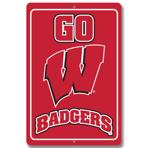 "Wisconsin 12"" x 18"" Metal Sign"