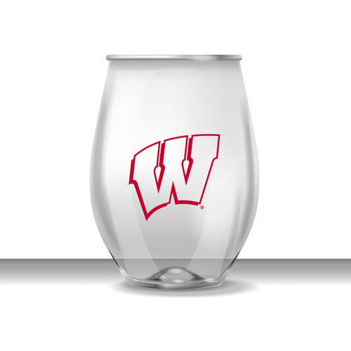 Wisconsin 16 oz Stemless Plastic Cup