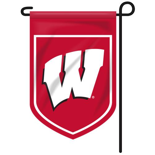 Wisconsin Shield Garden Flag