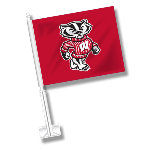 Wisconsin Car Flag - Badger