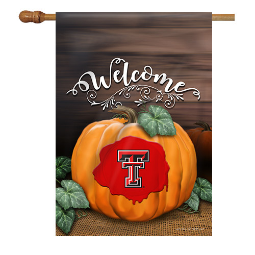 Texas Tech Pumpkin House Flag