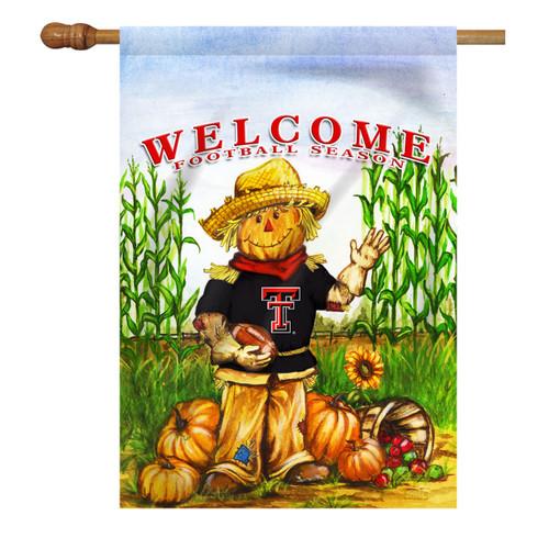 Texas Tech Scarecrow House Flag