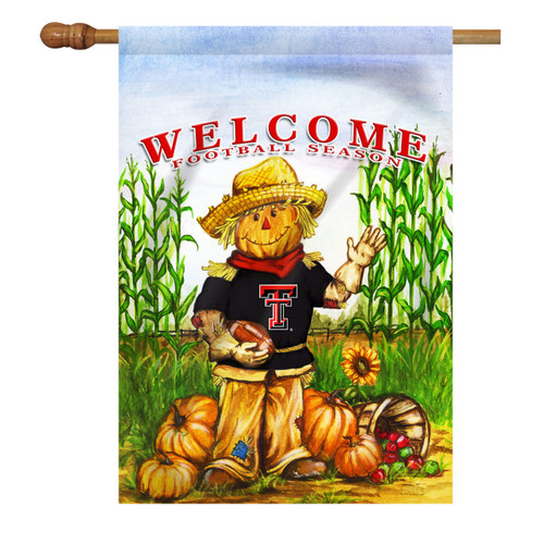 Texas Tech Scarecrow House Flag