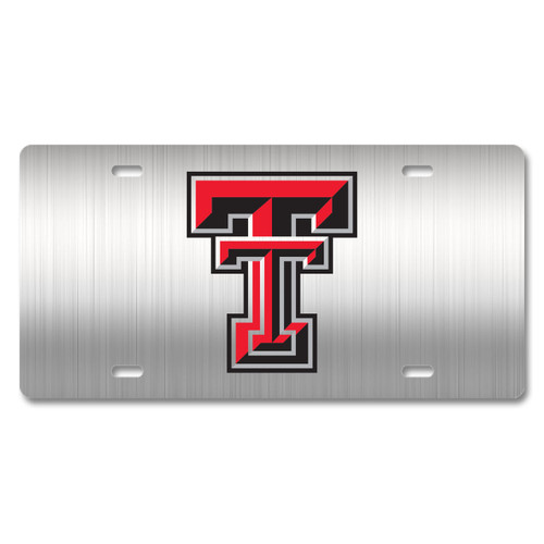Texas Tech Metal License Plate