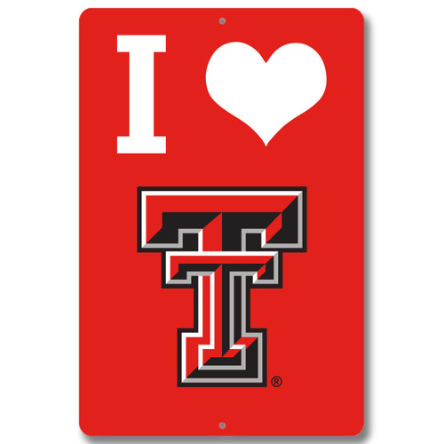 "Texas Tech 12"" x 18"" Metal Sign"