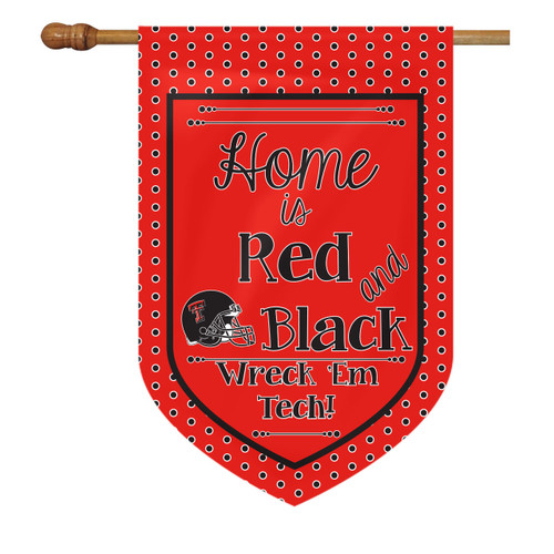 Texas Tech House Flag - Home Is