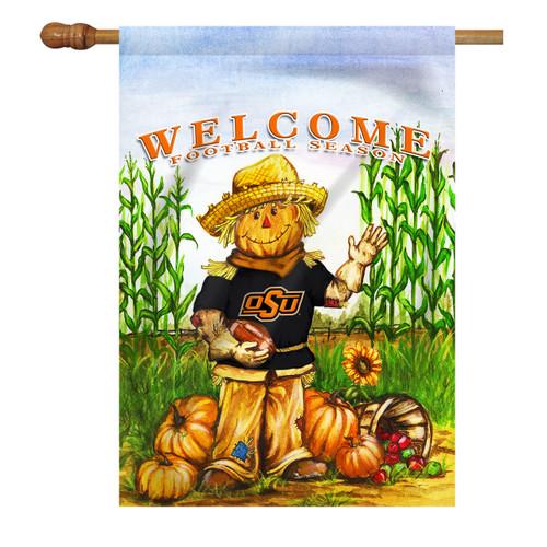 Oklahoma State Scarecrow House Flag