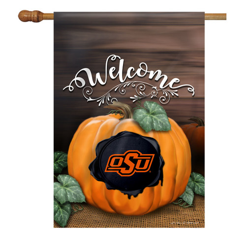 Oklahoma State Pumpkin House Flag