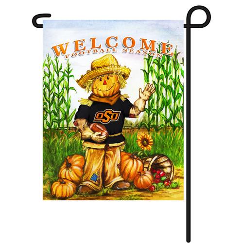 Oklahoma State Scarecrow Garden Flag