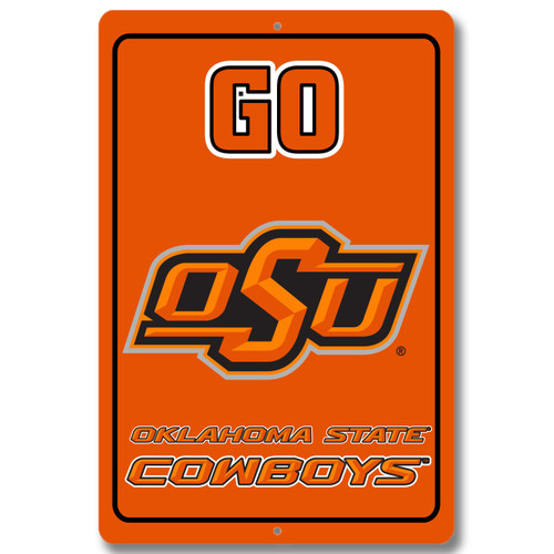 "Oklahoma State 12"" x 18"" Metal Sign"