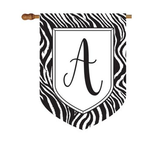 Zebra Monogram House Flag