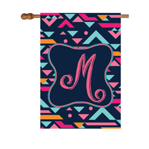 Abstract Monogram House Flag