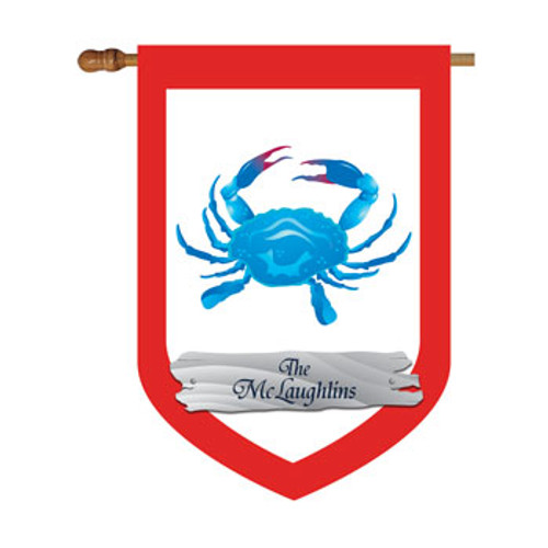 Blue Crab Personalized House Flag