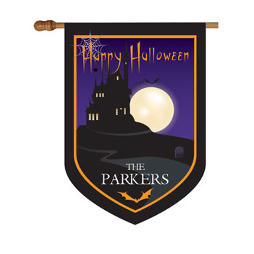 Halloween House Personalized House Flag