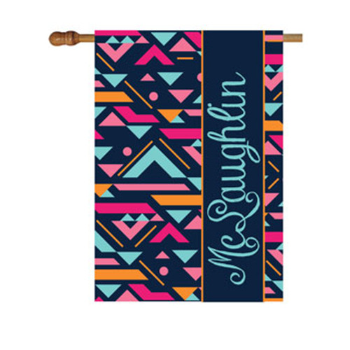Abstract Personalized House Flag