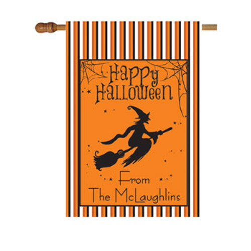 Halloween Witch Personalized House Flag