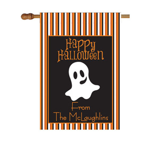 Halloween Ghost Personalized House Flag