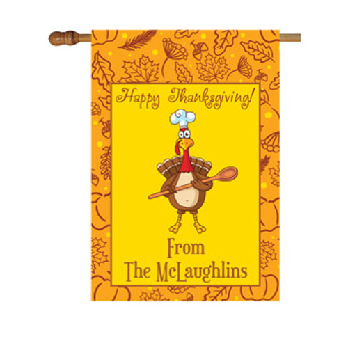 Thanksgiving Turkey Personalized House Flag