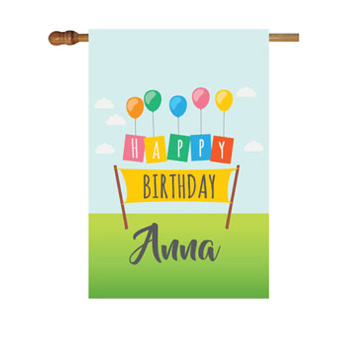 Birthday Personalized House Flag