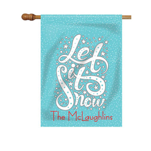 Let It Snow Personalized House Flag