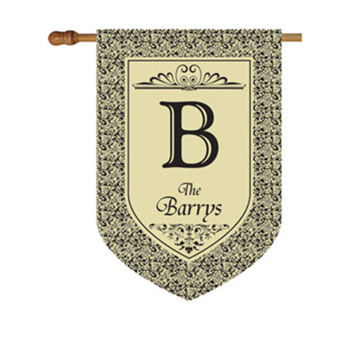 Floral Personalized House Flag