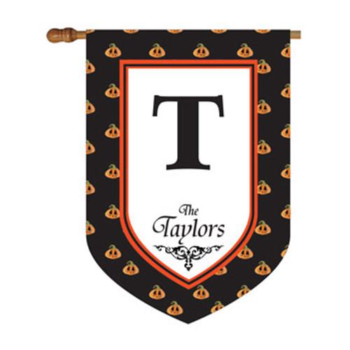 Pumpkin Polkadot Personalized House Flag