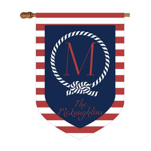 Nautical Personalized House Flag