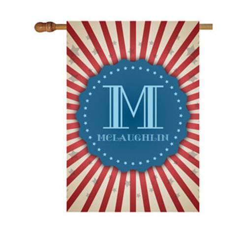 Stripes and Stars Personalized House Flag