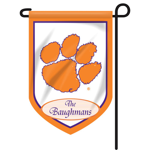 Clemson Personalized Garden Flag