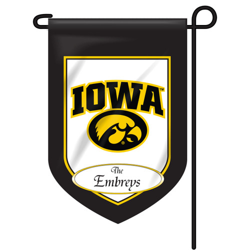 Iowa Personalized Garden Flag
