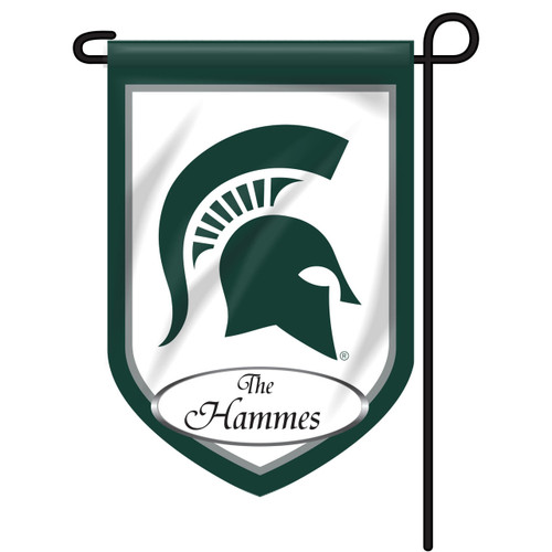 Michigan State Personalized Garden Flag