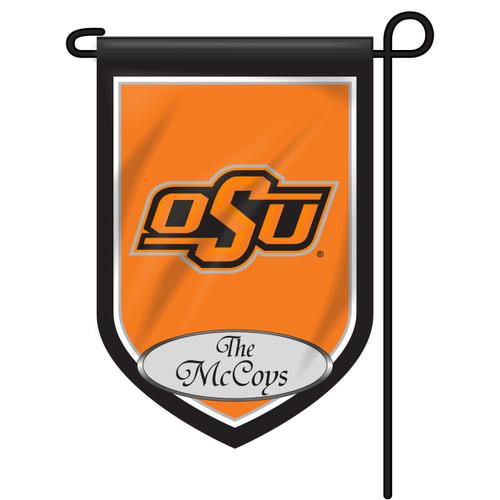 Oklahoma State Personalized Garden Flag