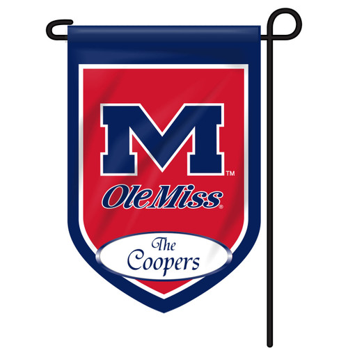 Ole Miss Personalized Garden Flag