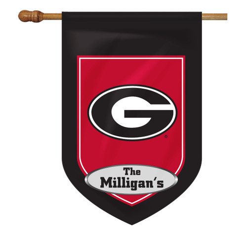 Georgia Personalized House Flag
