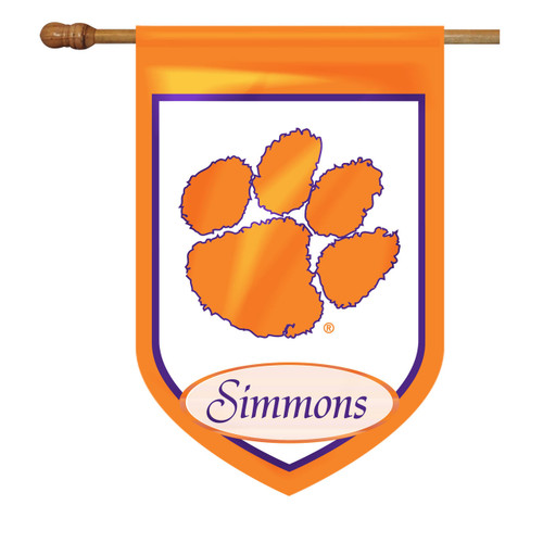 Clemson Personalized House Flag