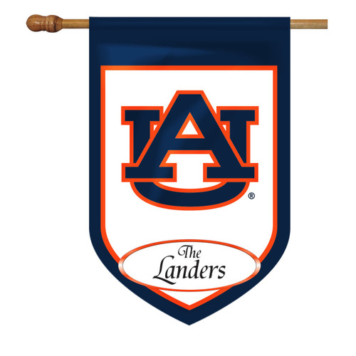 Auburn Personalized House Flag