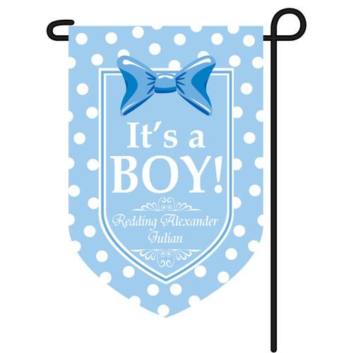 It's A Boy Personalized Garden Flag