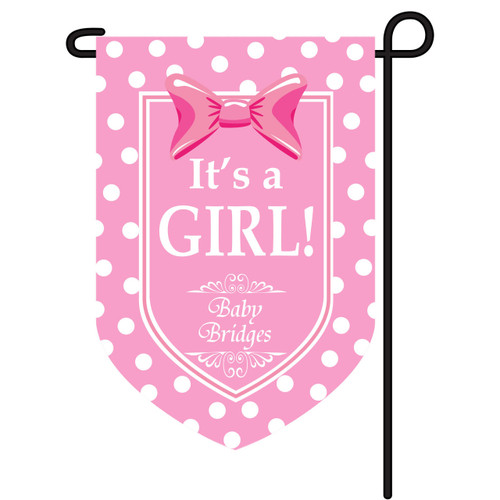 It's A Girl Personalized Garden Flag