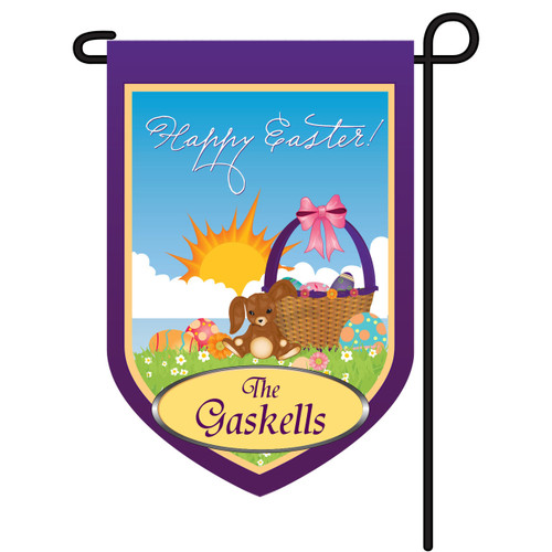 Easter Personalized Garden Flag