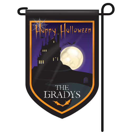 Halloween House Personalized Garden Flag