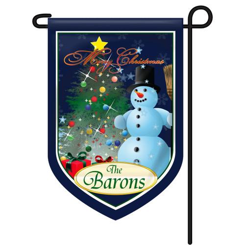 Christmas Scene Personalized Garden Flag