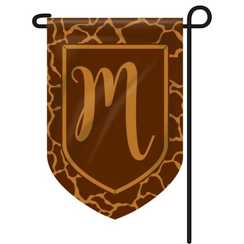 Giraffe Monogram Garden Flag