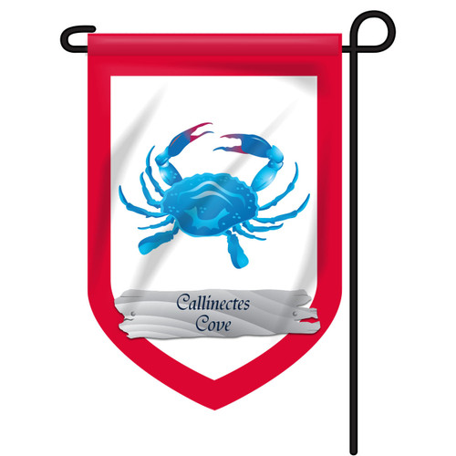 Blue Crab Personalized Garden Flag