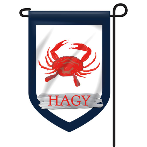 Red Crab Personalized Garden Flag