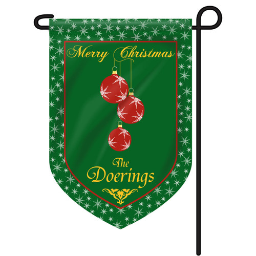 Christmas Ornament Personalized Garden Flag
